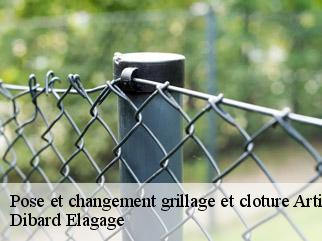 Pose et changement grillage et cloture  artigue-31110 Dibard Elagage